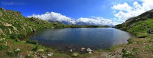 horské jezero Francie