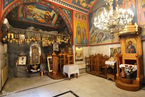 interiér kláštera Meteora v Řecku