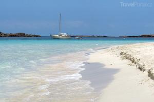 pláž na ostrově Formentera