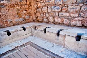 veřejné toalety ve městě Efez