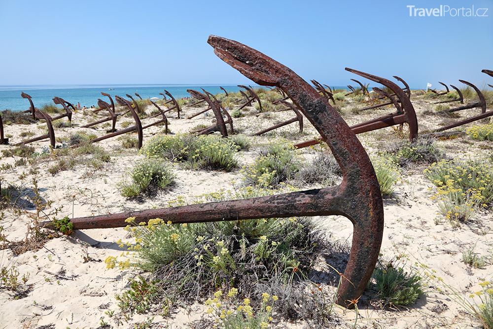 Hřbitov kotev v Portugalsku