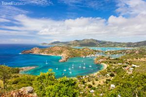 přístav na ostrově Antigua