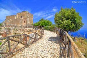 ruiny vily Jovis na ostrově Capri
