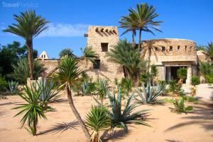 Vchod do krokodýlí farmy na Djerbě