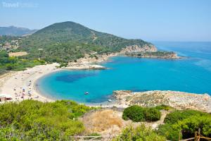 Sardinie pláž
