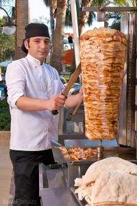 Prodej kebabu v Turecku