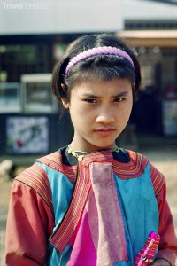 Dívka kmene Karenu
