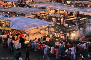 Tržiště na Jemaa el-Fna