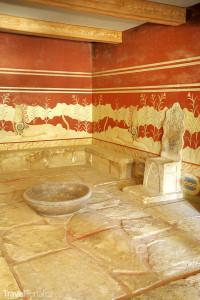 Trůn Palác Knóssos Kréta