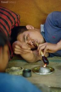 Kuřák opia Thajsko