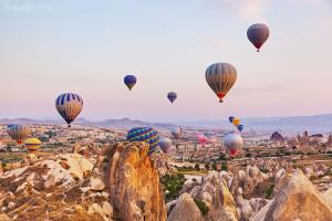 Horkovzdušné balóny Kappadokie