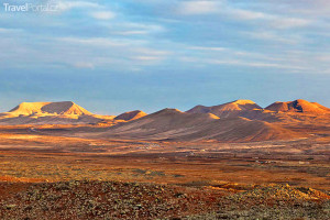 pustina na ostrově Fuerteventura