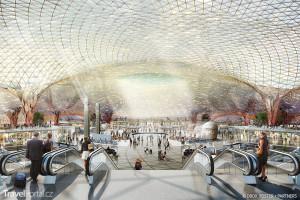 Interiér letiště v Mexico City