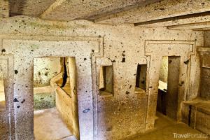 Interiér Necropolis Cerveteri