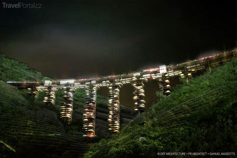 Vizualizace viaduktu Kalábrie