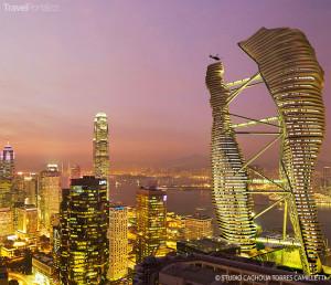 Vizualizace mrakodrapu v Hongkongu