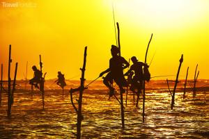 Rybáři na Srí Lance
