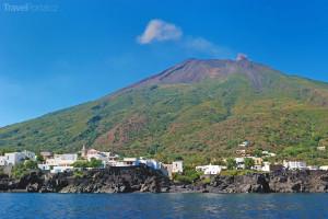 Sopka Stromboli Itálie