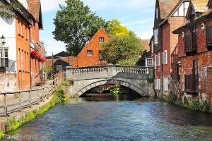 řeka Itchen ve Winchesteru