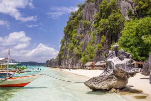 pláž ostrova Palawan