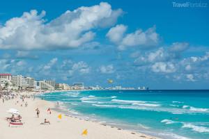 pláž Cancún
