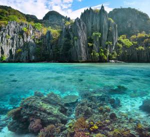 skalní útvary Palawan