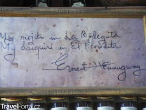 Hemingway La Bodeguita Del Medio