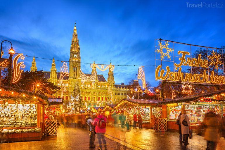 Vánoční trhy 2014 Vídeň radnice