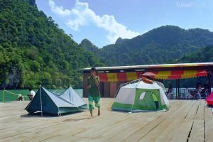 plovoucí hotel Malajsie