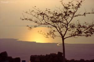 východ slunce Mrtvé moře