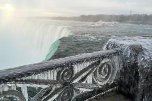 Niagarské vodopády zima