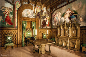 studovna zámku Neuschwanstein