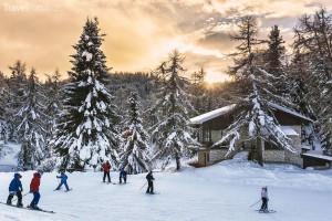 lyžování Dolomity