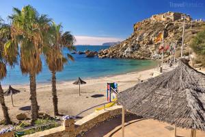 pláž poblíž města Cartagena