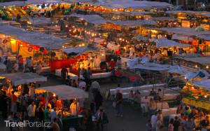 tržiště Jemaa el-Fna