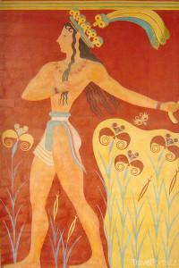 freska Palác Knossos
