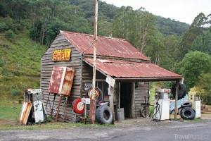 benzinová pumpa Austrálie