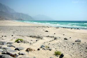 pláž v Ománu
