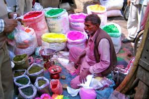 prodavač barev Indie