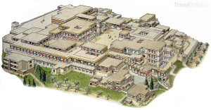 Palác Knossos rekonstrukce