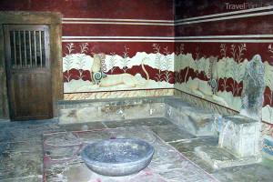 Palác Knossos trůnní sál