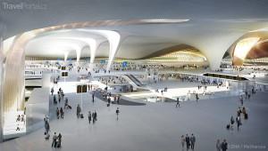 terminál Daxing Peking interiér