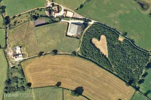 symbol lásky South Gloucestershire Velká Británie