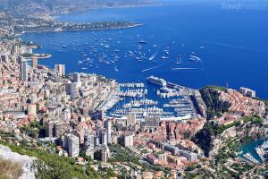 pohled na Monako