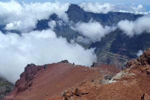 sopka na ostrově Réunion