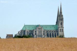 gotická katedrála v Chartres