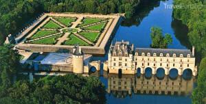 údolí řeky Loiry Chateau de Chenonceau Francie
