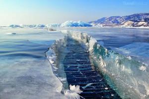 díry v ledu Bajkal