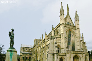katedrála Winchester Velká Británie