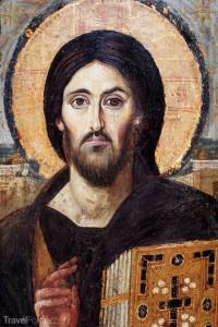 ikona Ježíše v klášteře Hora svaté Kateřiny